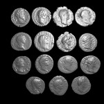 Rendered image showing the Emperor Heads of the extracted coins